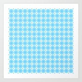 Background - blue mandala (zendala), abstract graphic-design vector pattern. Art Print