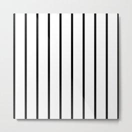 Vertical Lines (Black & White Pattern) Metal Print