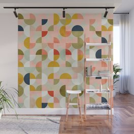 shapes mid century modern abstract Wall Mural