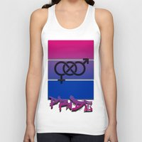 bisexual Tank Tops featuring Bisexual Pride! by Creature Creation Cafe