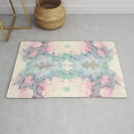 Echo : Ghostly digital and ink texture Rug