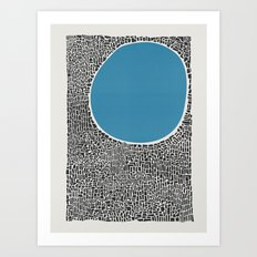 Abstract Blue Lake Art Print