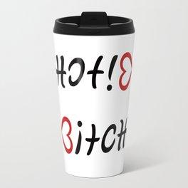 Funny Hot! Bitch ambigram Travel Mug