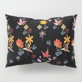 Dark Floral Garden Pillow Sham