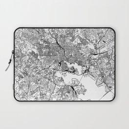 Baltimore White Map Laptop Sleeve