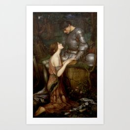 Lamia by John Waterhouse Art Print