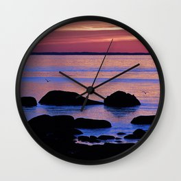 Nature's Evening Kiss Wall Clock