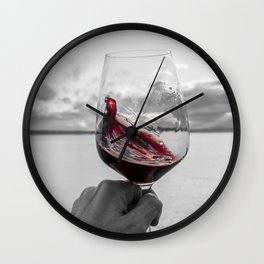 Swirling Red Wall Clock