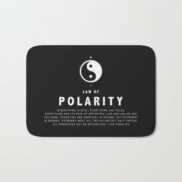Law of Polarity Bath Mat
