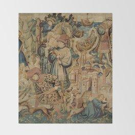 Hunting Flemish Tapestries Throw Blanket