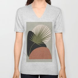 Tropical Leaf- Abstract Art 5 Unisex V-Neck
