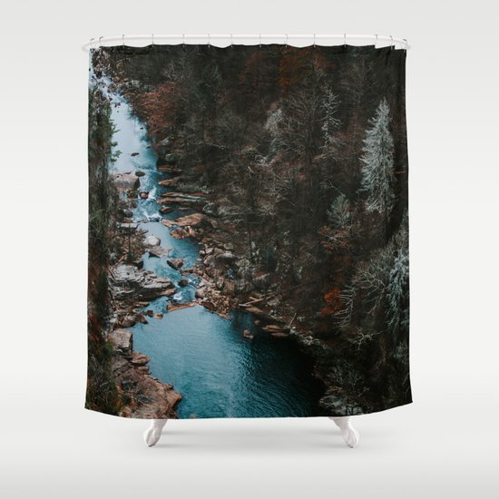 Blue Creek #landscape #society6 Shower Curtain