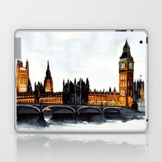 London, Big Ben, parliament, Watercolour Laptop & iPad Skin