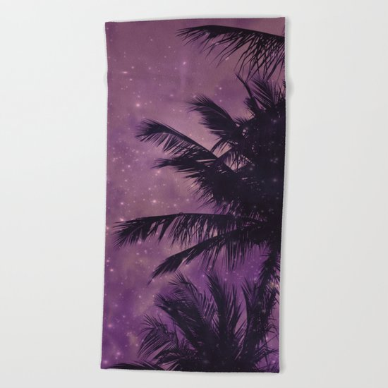 Purple Sky Palm Beach Towel