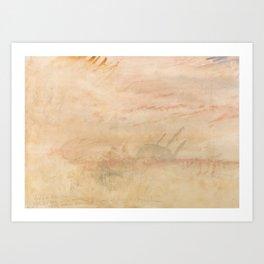 "J.M.W. Turner ""Lost to All Hope the Brig"" Art Print"