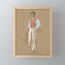 'Caely' 40's Fashion Plate Framed Mini Art Print