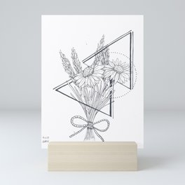 Daisies and Lavender Mini Art Print