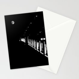 Bridge, Lights, Moon in low key - Fine Art Photography Stationery Cards