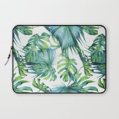 Blue Jungle Leaves, Monstera, Palm #society6 Laptop Sleeve