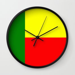 Flag of Benin Wall Clock