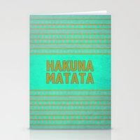hakuna Stationery Cards featuring Hakuna Matata by M Studio