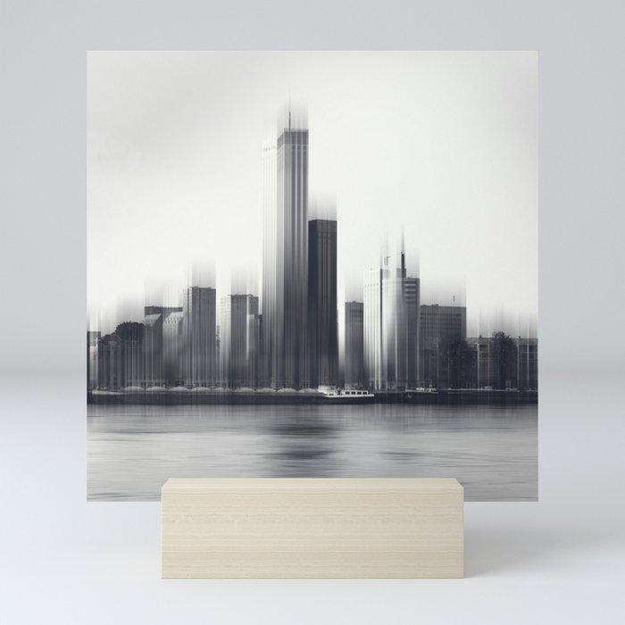 Rotterdam Skyline Abstraction Mini Art Print By Dirkwuestenhagenimagery
