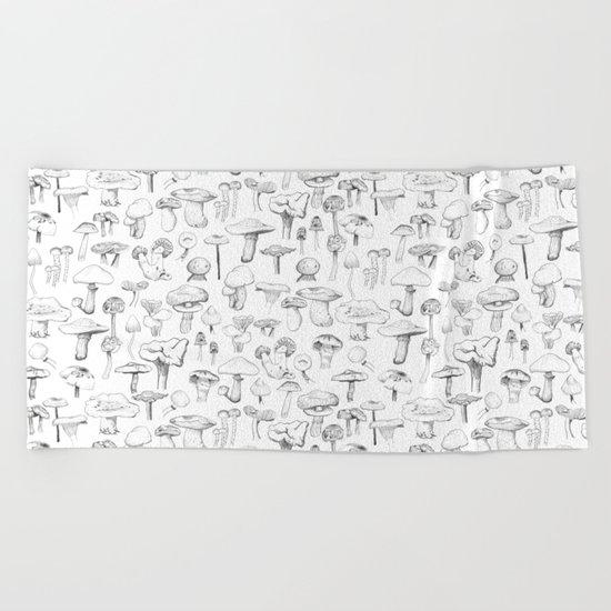 The mushroom gang Beach Towel