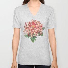 The Chrysanthemum of Pugs Unisex V-Neck