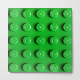 Buliding Blocks - Green Metal Print