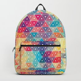 Colorful Triangle Geometric Patterns Backpack