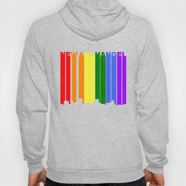 New Archangel Alaska Gay Pride Rainbow Skyline Hoody