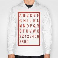 alphabet Hoodies featuring Alphabet by Sébastien BOUVIER