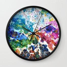 Artist's Palette Pattern Wall Clock