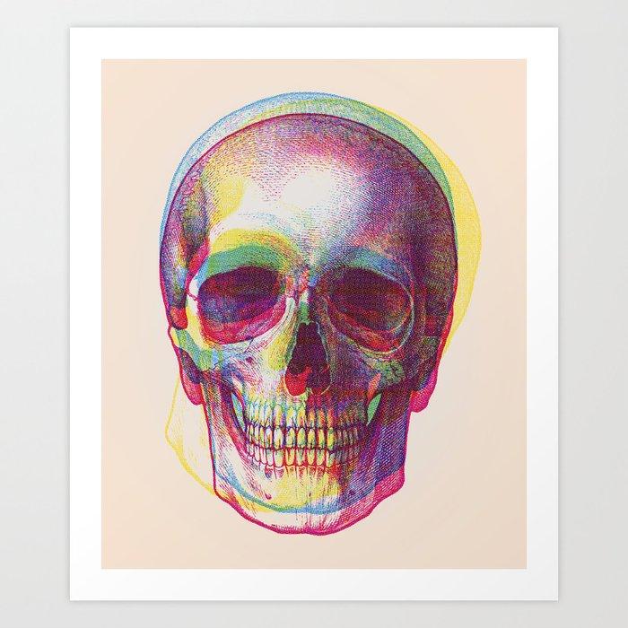 acid calavera Art Print