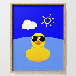 Cool Rubber Duck Yellow Serving Tray
