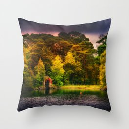 The Old Boat House Throw Pillow