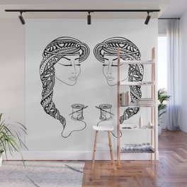 Reep What You Sew | Black and White Illustration Wall Mural