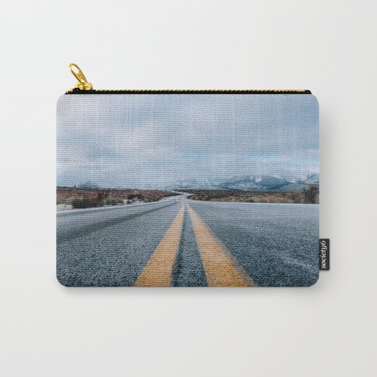 Yellow road mountain Carry-All Pouch