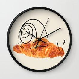 croissant snail Wall Clock