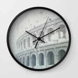 Letters From The Colosseum - Rome Wall Clock