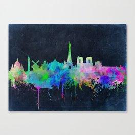 Paris skyline waterolor 2 Canvas Print