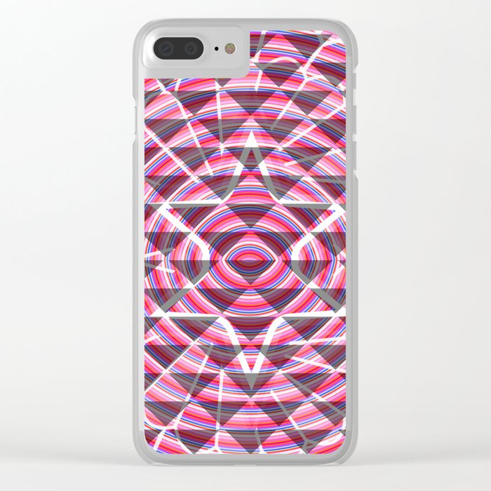 Pink lights and shadows Clear iPhone Case