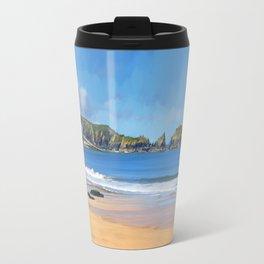 Mother Ivey's Bay, Cornwall, Original Art Travel Mug