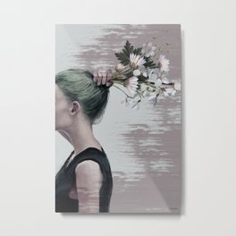 Flower ponytail ... Metal Print