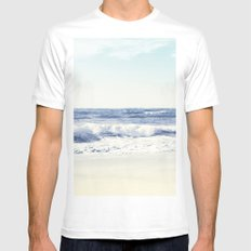 North Shore Beach Mens Fitted Tee MEDIUM White