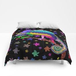 Chameleon Fantasy Rainbow Colors Comforters
