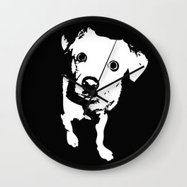 Graphic Dog | Black & White Wall Clock
