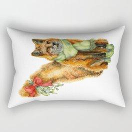 Foxy Mistletoe Rectangular Pillow