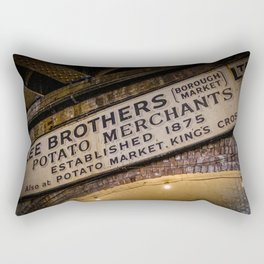 Colorful Lee Brothers Sign at Borough Market, London | Color Photography | Street Photography | Travel Photography | Photo Print | Art Print Rectangular Pillow