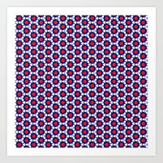 Red & Blue Pattern Art Print